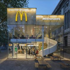 McDonald's Pavilion on Coolsingel by Mei Architects and Planners. Location:#Rotterdam #Netherlands #architectdesigne Tag your friends. by architectdesigne