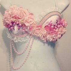 Pink Rave Bra by RevoltCouture on Etsy