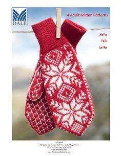 Ravelry: Mittens pattern by Dale of Norway / Dale Design Knitted Mittens Pattern, Knit Mittens, Knitted Gloves, Knitting Socks, Knitting Patterns, Knit Socks, Crochet Art, Fair Isle Knitting, Hand Warmers