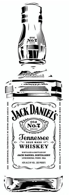 Great free clipart, png, silhouette, coloring pages and drawings that you can use everywhere. Jack Daniels Bottle, Jack Daniels Whiskey, Silhouette Projects, Silhouette Cameo, Vinyl Projects, Projects To Try, Stencils, Etiquette Vintage, Pyrography Patterns