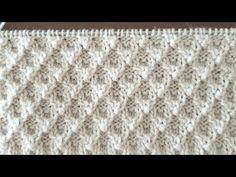 3 D.li kabartmalı örgü modeli Pattern cardigans sweater 3 D. Knitting Stiches, Knitting Videos, Sweater Knitting Patterns, Easy Crochet Patterns, Knitting Yarn, Baby Knitting, Crochet Baby Clothes, Crochet Baby Shoes, Guerilla Knitting