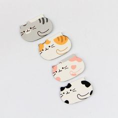 Comfy Cats Magnet Bookmarks - Set of Cool Stationary, Cute Stationery, Cat Lover Gifts, Cat Lovers, Paper Toys, Paper Crafts, Bookmarks For Books, Minis, Book Markers