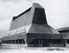 Poetry & Concrete Hat Factory, by Erich Mendelsohn, 1921-23, in Luckenwalde, Germany.