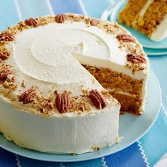 This this beautiful carrot cake with cream cheese frosting!