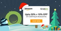 Special Christmas Sale Is Here! Amazon Offers Upto 50% + Extra 10% Off. http://www.grabon.in/amazon-coupons/