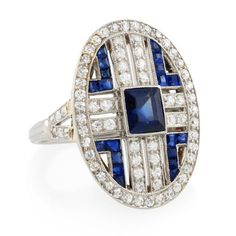 Tiffany Art Deco Sapphire and Diamond Ring - Kentshire