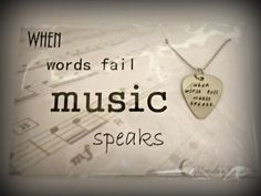 When words fail, music speaks #SoTrue