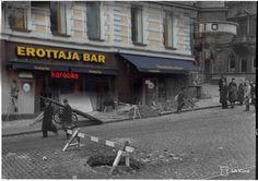 Erottaja, Helsinki. Karaoke Bar after 1941 bombings