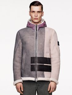 Hooded Jacket, Bomber Jacket, Split Design, Stone Island, Shearling Jacket, Perfect Wardrobe, Stylish Men, Fall Winter, Autumn