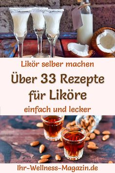 Likör selber machen - 35 einfache Rezepte Make your own liqueur: simple recipes for homemade creamy liqueurs, such as coffee or caramel liqueur, vanilla, hazelnut and chocolate liqueur or fruity Caramel, Cream Liqueur, Chocolate Liqueur, Flavored Milk, Food Trends, Salad Ingredients, Fall Recipes, Simple Recipes, Fresh Vegetables