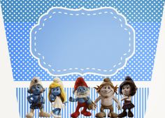 Smurfs: Free Printable Candy Bar Labels for Boys Party. Cd Labels, Candy Bar Labels, Printable Labels, Party Printables, Free Printables, Candy Bags, Blogger Templates, Birthdays, Card Making