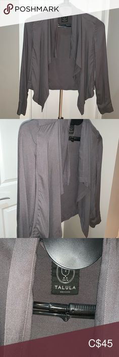 Talula Eddie Blazer in dark grey In excellent condition - worn once only. This jacket looks wicked on! See photos for fabric details and wash instructions. Blazer Suit, Suit Jacket, Colored Blazer, See Photo, Dark Grey, Wicked, Blazers, Gray Color, Jackets For Women