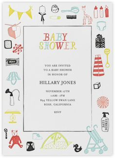 baby shower invitation girl pink and gold glitter polka dots baby