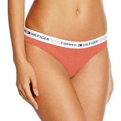 Tommy Hilfiger Cotton Thong Iconic, String Femme, Orange (Deep Sea Coral-Pt), 38 (Taille Fabricant: MD): Tweet