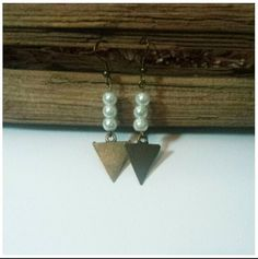Check out this item in my Etsy shop https://www.etsy.com/listing/194605276/triangle-dangle-earrings-with-pearl