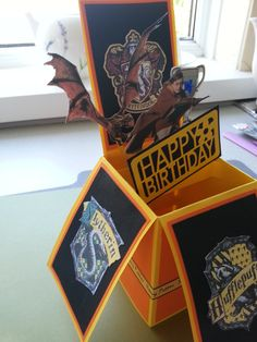 Handmade Personalised Harry Potter Pop Up Box Card Cards