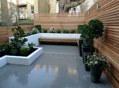 Image result for grey limestone paving and rendered walls