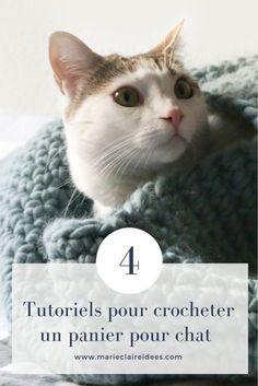 Crocheter un panier pour votre chat / crochet patterns cat / DIY chat