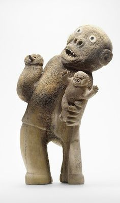 Inuit Sculpture (looks like a bone carving)