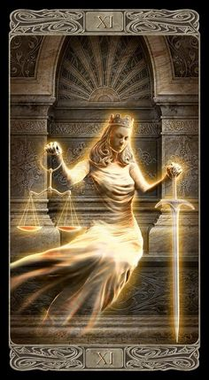 Justice (Ghost Tarot)