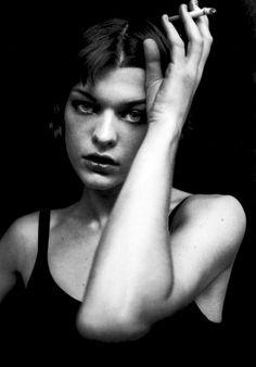 Peter Lindbergh, Milla Jovovich, June 1998