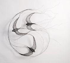 Celia Smith's wire sculpture of birds