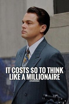 Think Like A Millionaire Learn how to trade Forex using step by step technical analysis and price action strategies. Get your free forex trading strategy guide for beginners or try Trend Pulse Pro Forex signals that work for both day and swing traders. Business Motivation, Business Quotes, Attitude Quotes, Life Quotes, Quotes Quotes, People Quotes, Trading Quotes, Motivational Quotes, Inspirational Quotes