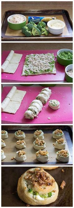 Chicken and Broccoli Pinwheels Recipe