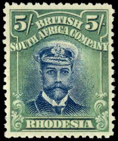 """1891 Scott 5 red brown & black """"Coat of Arms"""" Quick History """"Rhodesia"""", commonly called by the white settlers in the after Cec. Rare Stamps, Vintage Stamps, Green And Grey, Black And Brown, Postage Stamp Collection, Postage Stamp Art, Lost Art, Penny Black, New Zealand"""