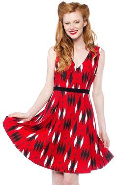 SOURPUSS RED RETRO DIAMONDS DRESS $58.00 #sourpuss #sourpussclothing #dress…