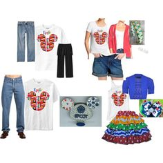 World Showcase Disney Family Outfits on Polyvore featuring Old Navy and Levi's