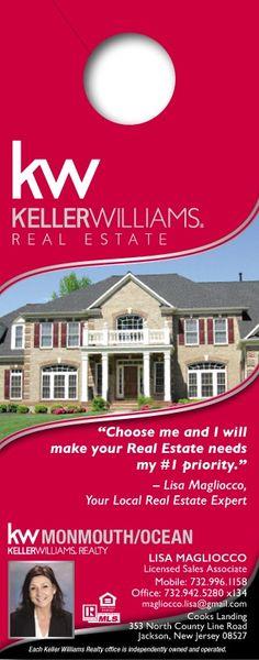 """Keller Williams Door Hangers door hanger small (3.5"""" x 8.5"""")- investor 4 http://www"""