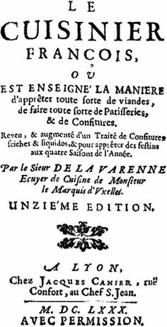 Le cuisinier françois by La Varenne