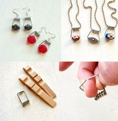 DIY Clothespin Jewelry DIY Projects - this is cool!