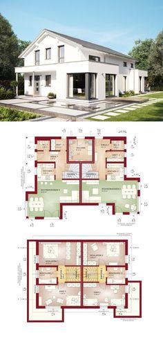Einfamilienhaus satteldach modern mit erker anbau for Zweifamilienhaus grundriss fertighaus