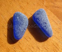 STARLIT SKIES real Sea Glass earring pair in Cobalt Blue ~ for jewelry from the tropical Peruvian coast HU-0181 by OdysseySeaGlass on Etsy