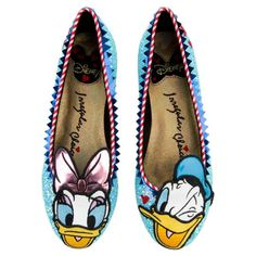 d4901259a74 Disney s iconic lovebirds Daisy and Donald Duck now on the Whoa! It also  offers a striped heel and a design of the characters on the outsole.