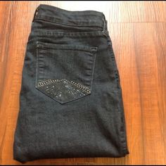 """Not your daughters Jeans NYDJ skinny jeans size 12 Inseam 30"""" Dark blue stretchy and comfortable NYDJ Jeans"""