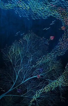 Hong, Bo-young Nature Illustration, Digital Illustration, Whale Art, Alternative Art, Sketch Inspiration, 2d Art, Illustrations And Posters, Texture Art, Under The Sea