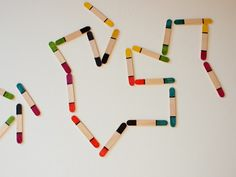 Make your own set of popsicle stick dominos