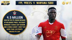 Selected by 19.3% of #FPL players, Wanyama's a part of the tactic for manager's who just don't care about the bench.