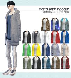 [Men's long hoodie]DOWNLOAD/MediaFirefor male/original mesh by EA/remesh by me/ category:RING:index-finger(left)recolor&remesh,convert is OK. texture base.png(DOWNLOAD) You can use it as you...