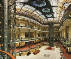 Gran Hotel Cuidad de Mexico - Art Nouveau architecture and magnificent Tiffany stained glass ceiling.