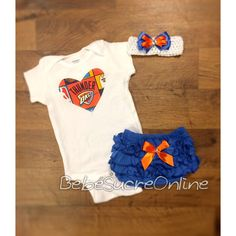 OKC Thunder Outfit and Headband by BebeSucreOnline on Etsy