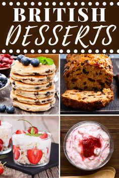 Looking for the best traditional British desserts? From puddings to tarts to cakes, these easy recipes are fit for a queen and perfect for afternoon tea! British Desserts, British Recipes, Cracker Barrel Meatloaf, Knickerbocker Glory, 4 Ingredient Recipes, Banoffee Pie, Quick Easy Dinner, Golden Syrup, Sweet Pastries