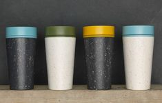 The World's First Reusable Travel Cup Made from Recycled Single-Use Cups rCUP comes in a multitude of colours, is BPA free and a 360 drinking spout. I think it's the best re-usable travel cup you'll ever find.