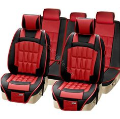 Red And Black Car Seat Covers Click To Close This Picture Accessories Indoor Usa Free