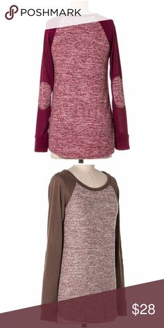 💥💥💥1 Day Flash Sale!! 2 Tone w/Sleeve Contrast Two Tone Top with Sleeve Contrast Detail-Fit True to Size-Always Open to Offers Tops Tees - Long Sleeve