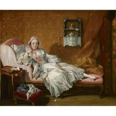 A Lady on Her Day Bed, 1743, oil on canvas, France, Francois Boucher