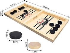 Tinfence Fast Sling Puck Game Paced, Table Desktop Battle,Winner Board Games Toys for Adults Parent-Child Interactive Chess Toy Board Table Game (Small)